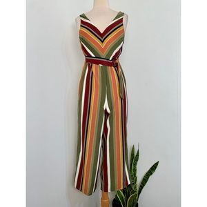 NWOT Colorful Striped Jumpsuit by Crystal Doll 😍